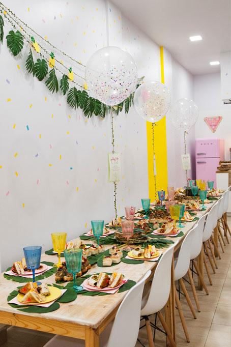 decoración eventos tropical